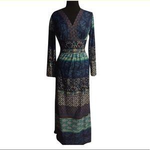 B Altman Vintage Boho Maxi Dress